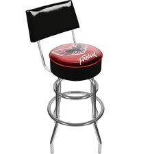 "41.75"" Pontiac Firebird Red Padded Swivel Bar Stool"