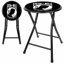 "Pow 18"" Cushioned Folding Stool"