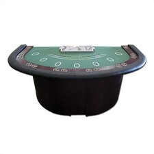Deluxe Blackjack Table With Pedestal Legs & Metal Locking Tray