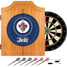 NHL Winnipeg Jets Dart Cabinet includes Darts and Board