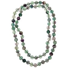 36 Inches Fluorite Knotted Necklace