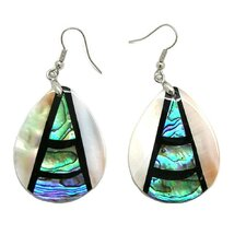 Fashion Abalone and Shell Pearl Dangle Fashion Earrings