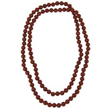 Endless Jasper Beaded Necklace