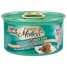 Elegant Medley Shredded Turkey Fare Cat Food (Case of 24)
