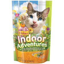 Crunchy Indoor with Chicken Flavor Cat Treats (2.1-oz pouch, case of 10)