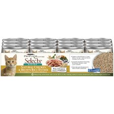 Selects Kitten Natural Chicken and Brown Rice Entree Cat Food (3-oz, case of 24)