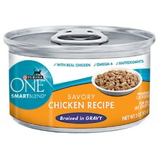 Smartblend Braised Cuts Chicken Wet Cat Food (3-oz, case of 24)