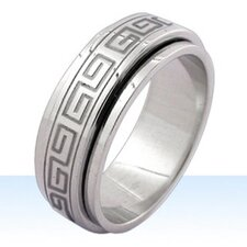 Greek Key Spinner Ring