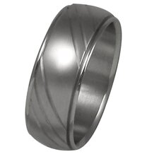 Men's Diamond Cut Wedding Band Ring