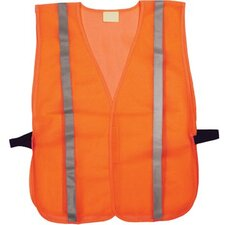 "Bi-V220 Non Certified Vests Non Certified Mesh W/1""Glass Bead Tape Lime: 101-75120 - non certified mesh w/1""glass bead tape hi vis"