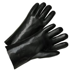 "PVC Coated Gloves - 2233 12"" black pvc smooth finish"