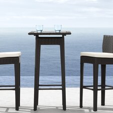 Railay Outdoor Pub Table in Dark Brown