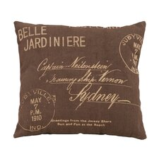 Paris Postcard Theme Pillow