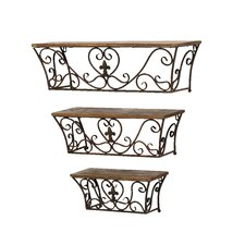 Metal Wall Shelf (Set of 3)
