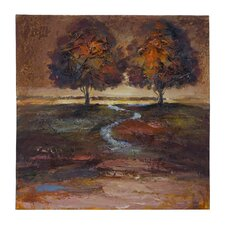 Meandering Stream Canvas Painting