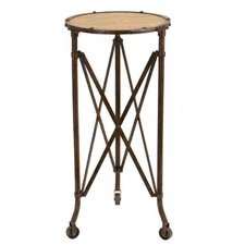 Metal and Wood Accent End Table