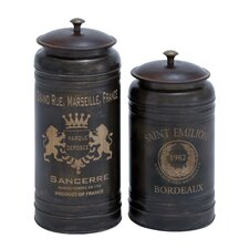 2 Piece Canister Set