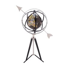 Metal Armillary Sphere with Globe