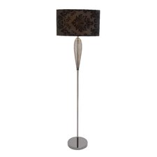 Glass and Metal Floor Lamp
