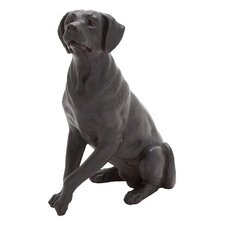 Polystone Sitting Dog Statue