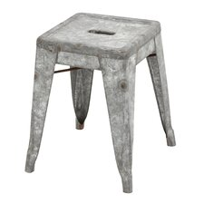 Classic Metal Galvanized Counter Stool