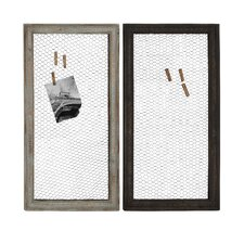 Wood and Metal Wall Décor (Set of 2)