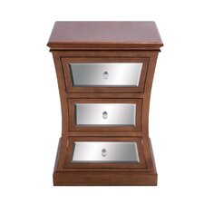 3 Drawer Wooden Mirror Cabinet