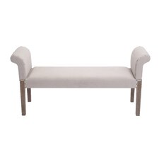 Wooden / Linen Fabric Bench