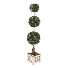 Triple Boxwood Ball Tree