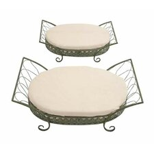 2 Piece Brighton Metal Pet Bed Set