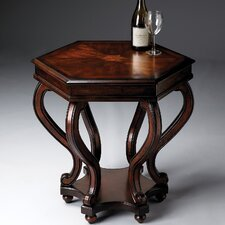 Plantation Cherry Hexagonal End Table