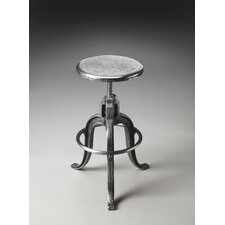 Metalworks Parnell Adjustable Swivel Iron Bar Stool