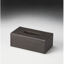 Hors D'oeuvres Lido Leather Tissue Box