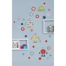 Robots Play Wall Decal (Set of 4)
