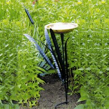 Single Cattail Birdbath