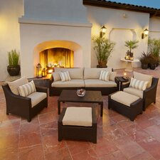 Slate 8 Piece Deep Seating Group with Cushions