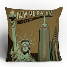 Anderson Design Group New York Woven Polyester Throw Pillow