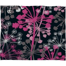 Rachael Taylor Cow Parsley Polyester Fleece Throw Blanket
