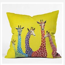 Clara Nilles Jellybean Giraffes Woven Polyester Throw Pillow
