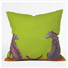 Clara Nilles Leopard Lovers Woven Polyester Throw Pillow