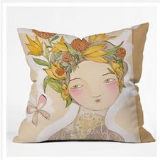 Cori Dantini Beauty on The Inside Woven Polyester Throw Pillow