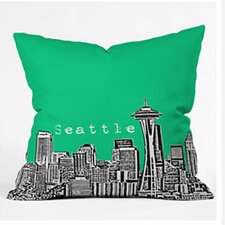 Bird Ave Seattle Woven Polyester Throw Pillow