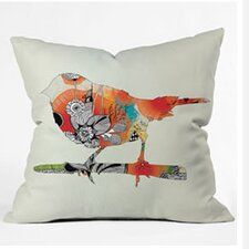 Iveta Abolina Little Bird Woven Polyester Throw Pillow