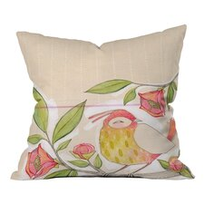 Cori Dantini Little Bird On A Flowery Branch Woven Polyester Throw Pillow