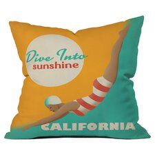 Anderson Design Group Dive California Woven Polyester Throw Pillow