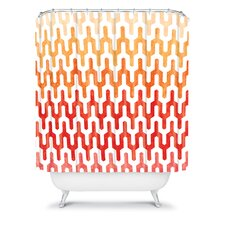 Arcturus Warm 1 Polyester Shower Curtain
