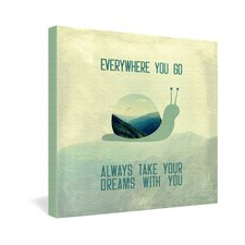 Belle13 Always Take Your Dreams With You Gallery Wrapped Canvas