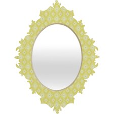 Caroline Okun Yellow Spirals Baroque Mirror