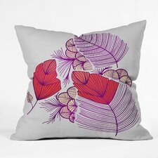 Gabi Sea Leaves Polyester Throw Pillow