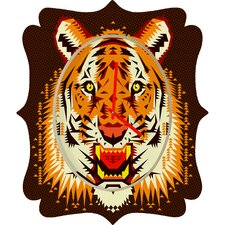 Chobopop Geometric Tiger Clock